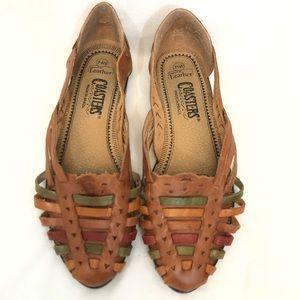 Vintage Coasters leather shoes/sandals flats